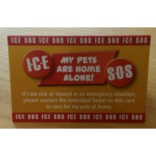 ICE Cards For Pets Now Available!