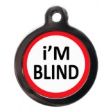 I am blind Pet Tag